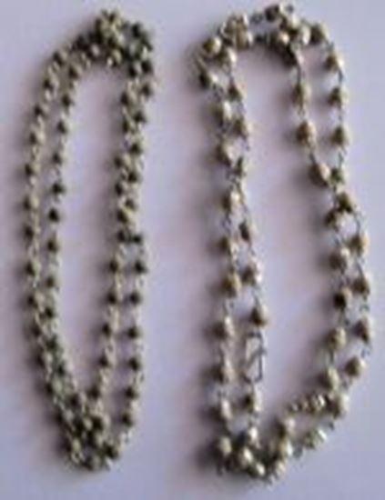 """Picture of Chandan Mala Small Silver chain 12"""""""