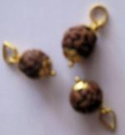 Picture of Rudraksha One Mukhi Midium gold pendant